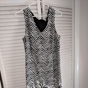 Simple V neck dress